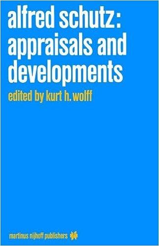 Book Alfred Schutz: Appraisals and Developments