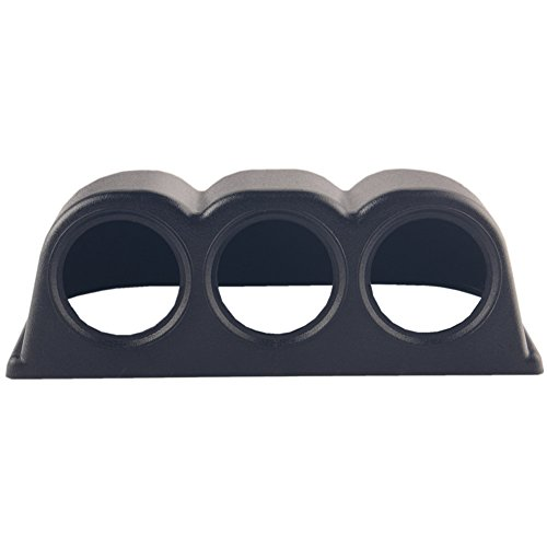 - Dewhel Horizontal Black 52mm 3 Hole Triple Dash Mount Gauge Meter Pod Holder