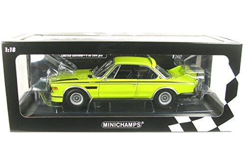bmw-30-csl-e9-yellow-decorated-1972-model-car-ready-made-minichamps-118
