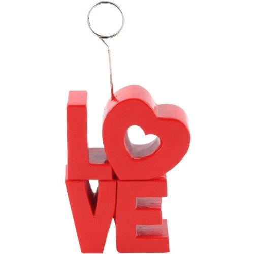 Red LOVE Photo Balloon Holder