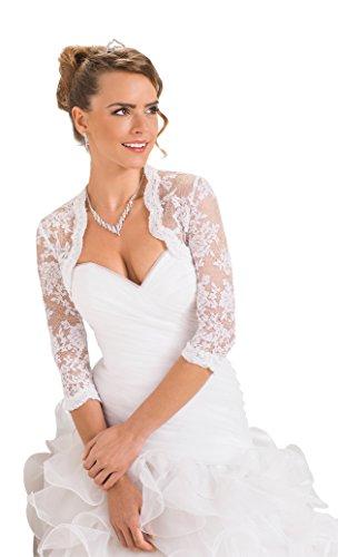 Pizzo Sposa Splendido Bianco Coprispalle Stile Bolerino Da In Nuziale 7q0rOx7