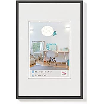 black Set of 2-21 x 30cm Walther New Lifestyle KV015B Plastic Picture Frame