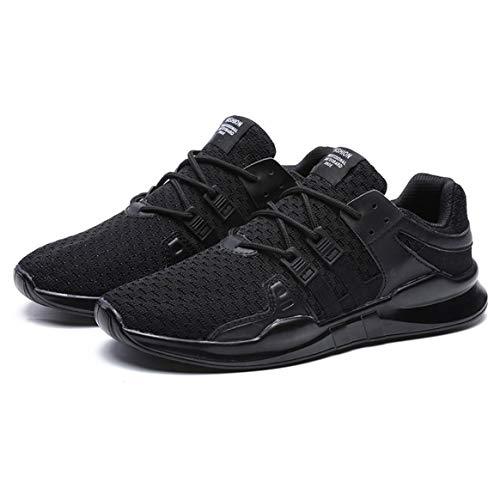 Correr Todos Malla Casual Zapatos Deporte Atan Coinciden Transpirable Para Zapatillas 39 Hombres De Punto Moda Negro Arriba Los Con wvzYR