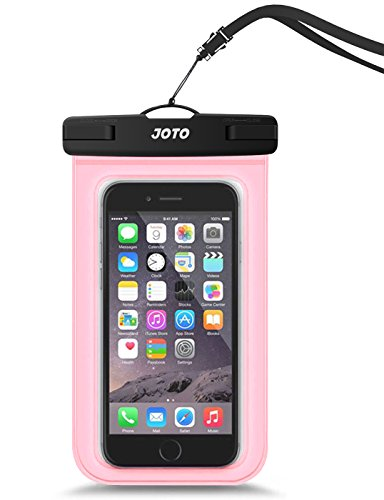 JOTO Universal Waterproof Pouch Cellphone Dry Bag Case for iPhone Xs Max XR XS X 8 7 6S Plus, Samsung Galaxy S9/S9 +/S8/S8 +/Note 8 6 5 4, Pixel 3 XL Pixel 3 2 HTC LG Sony Moto up to 6.0 –Clearpink