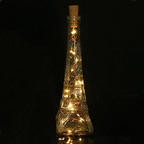 Fabal Solar Wine Bottle Cork Shaped String Light LED Night Fairy Light Lamp (10 LED, Warm White) by Fabal (Image #5)