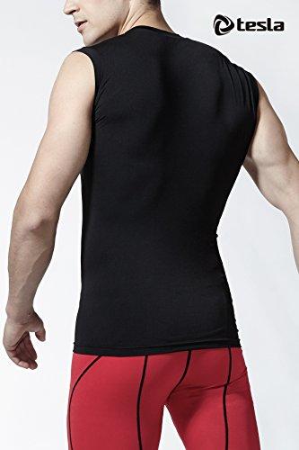 Tesla Men's R Neck Sleeveless Muscle Tank Dry Compression Baselayer MUA05 / R15