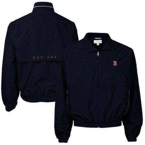 Cutter & Buck Men's Weathertec Bainbridge Large Navy (Navy Blue Boston Red Sox Jacket)