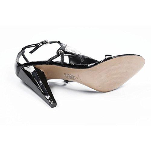 NWDONTLIE Black Nine West Sandal Womens Ankle SILVER BLK Strap nxFXvR7wqF