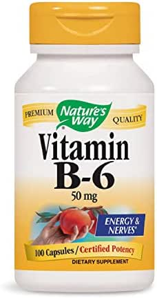 Nature's Way Vitamin B-6, 50 mg per serving