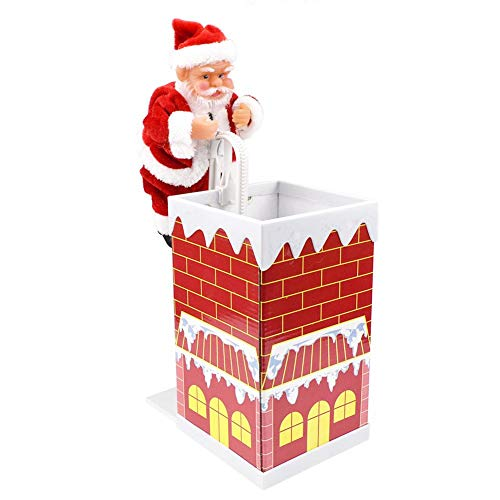 Diamondo Santa Claus Climbing Chimney Doll Electric Toy With Music Christmas Gifts]()