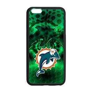 RAROFU New Style Miami Dolphins Custom Case for iPhone6 Plus 5.5 (Laser Technology)