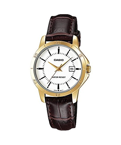 - Casio Women's LTP-V004GL-7A Genuine Leather Band Analog Watch