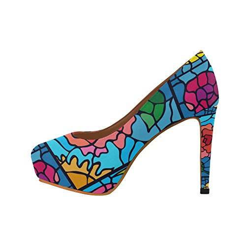Scarpe Da Donna Sexy Con Tacchi Alti, Scarpe Colorate Con Motivo Floreale
