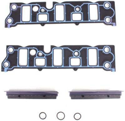 Evan-Fischer EVA45372034864 Intake Manifold Gasket Includes lower set With rubber-plastic end seals and locating pins