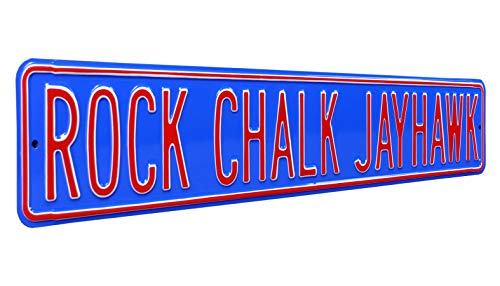 NCAA Rock Chalk Jayhawk Street Signstreet Sign, Team Color, 36