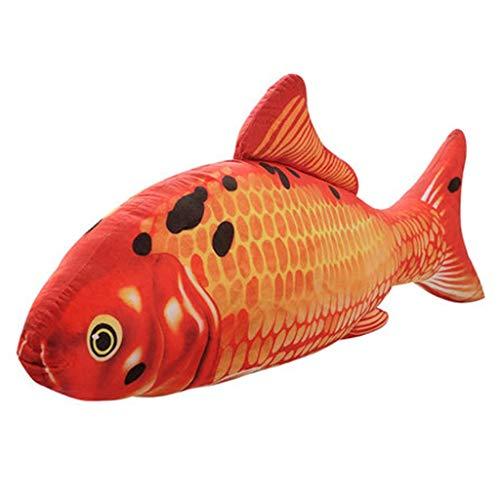 Orange Height 140cm Jouet Peluche Jouets Poupée Big Catfish Oreiller Poupée Koi Poupée Anniversaire De Mariage Cadeaux D'activité De Filles Coussin (Couleur   Orange, Taille   Height 140cm)