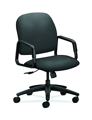 HON H4001.H.CU19.T Fixed Arms Center-Tilt Solutions Seating High-Back Chair, Iron Ore