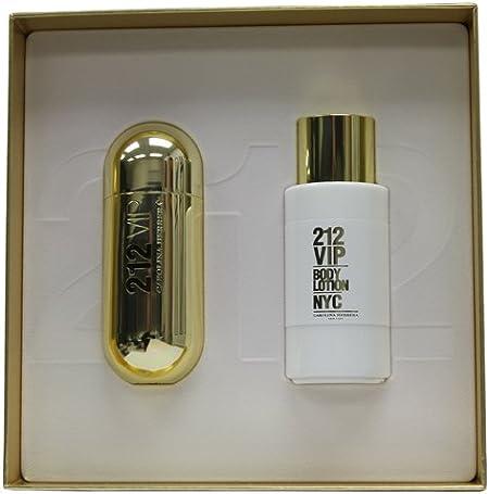 Carolina Herrera 212 Vip para mujer estuche – Eau de Parfum 80 ml spray y cuerpo loción 200 ml.: Amazon.es: Belleza
