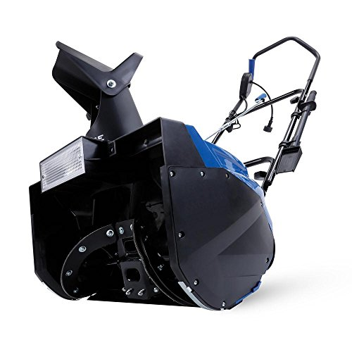 Snow Joe Ultra SJ623E 18-Inch 15-Amp Electric Snow Thrower with Light, Blue Clearing Width, Motor