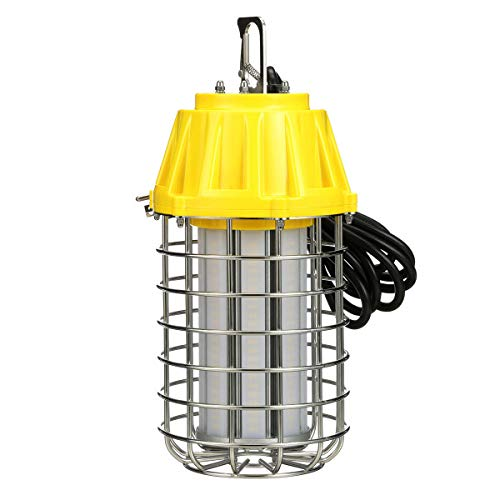 Southwire T50100W LED 360 Degree Area Jobsite Lantern: 11,000 Lumens, 100 Watt, 120 Volt.8 Amp, Included Hook, Bracket and H-Stand, IP64 Rated for Outdoor Use; Yellow,