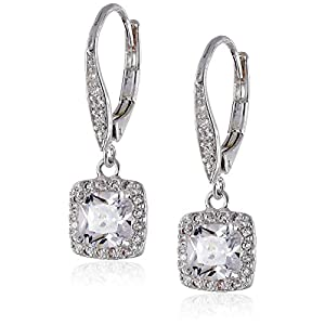 Best Epic Trends 41ueelDnHzL._SS300_ Anne Klein Flawless Cubic Zirconia Lever-Back Drop Earrings