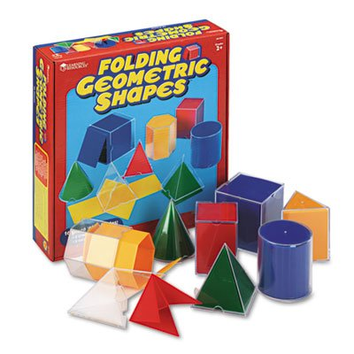 Folding Geometric Shapes, for Grades 2 and Up, Sold as 1 Set, 16 Each per Set