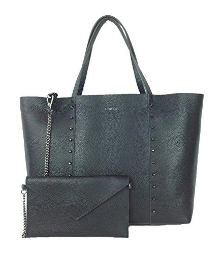 Furla Elle Studded Leather Black product image