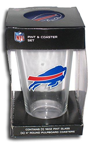 - Buffalo BIlls Clear Pint Glass and Coaster Set