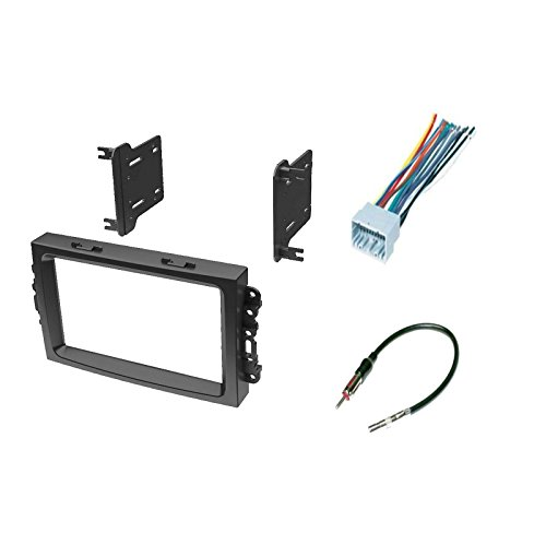 IMC Audio Double Din Dash Kit for Aftermarket Radio Installation for Chrysler Dodge Jeep with Wire Harness and Antenna Adapter Double Din Adaptors