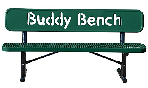 Kirby Built Products The City Series Buddy Bench - 6 Foot - Portable - Green
