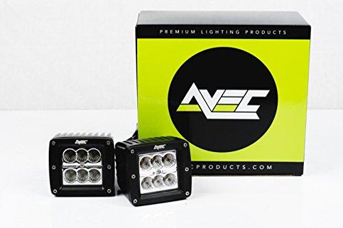 2x avec 18w cube work light spot beam led kit w wiring harness 2x avec 18w cube work light spot beam led kit w wiring harness 2520