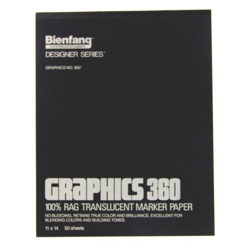 Bienfang Graphics 11 by 14-Inch 360 Paper Pad, 50 Sheets by Bienfang by Bienfang