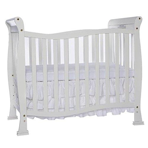 Pemberly Row 4-in-1 Convertible Mini Crib in White