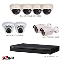Dahua Surveillance Analogical System. 1 DVR + 8 Cameras