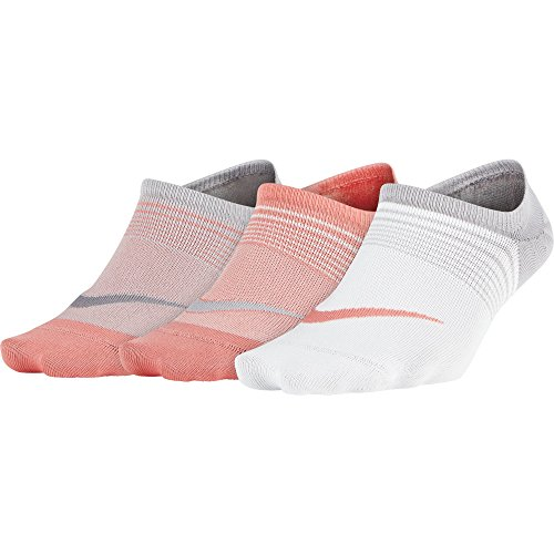 Womens Replica Nike Jersey - Nike Women's Everyday Plus Lightweight Training Footie (3 pair) Multi-Color Medium