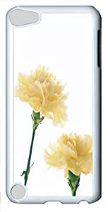 iPod 5 Case Nature Carnations 2 PC Custom iPod 5 Case Cover White