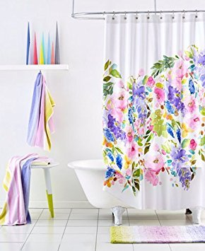 BlueBellGrey Wisteria Shower Curtain