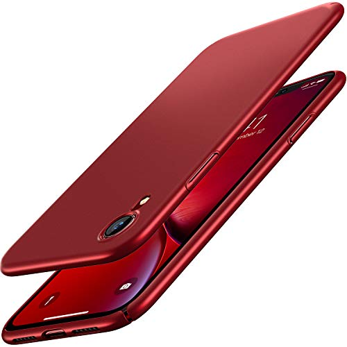 RANVOO iPhone XR Case, Slim Fit Ultra Thin Hard PC Matte Basic Minimalist Cover Anti-Scratch Anti-Fingerprint Case for iPhone XR 6.1 inch (2018), Red
