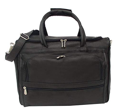(Piel Custom Personalized Leather Traveler Computer Carry-All Bag in Black)