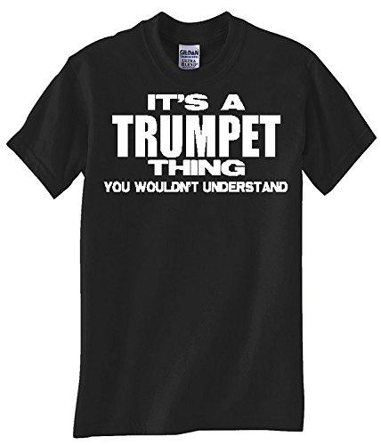 """TRUMPET """"THING"""" BLACK T SHIRT"""