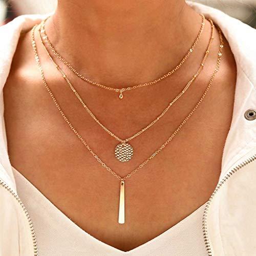 Tgirls Boheo Lrregular Alloy Rod Layered Tassel Necklace XL-54 ()