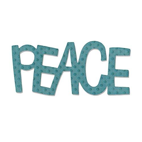 Sizzix Originals Phrase Peace #2 Die by Stephanie Ackerman (Phrase Die Scrapbook Cut)