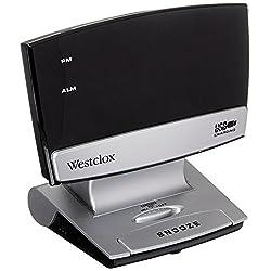 Westclox 71014 X 0.9 LED Plasma Screen Alarm Clock with USB Charging Port
