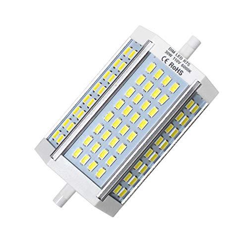 - R7s LED 118mm, 110V J Type Double Ended J118 LED Bulbs, 30W (200-250W Halogen Bulb Replacement), Dimmable 2700 Lumen Daylight 6000K Floodlight
