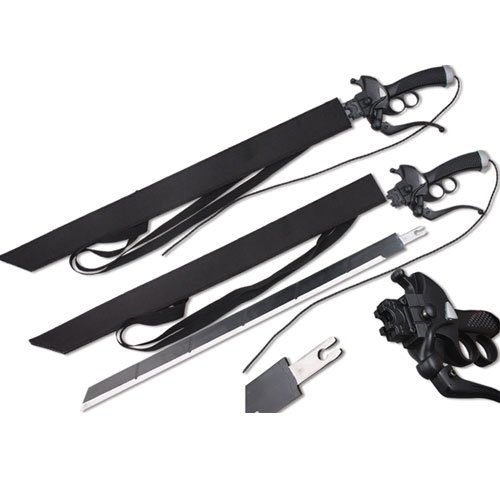 Attack on Titan Survey Corps Sword Eren Yeager - Shingeki no Kyojin Anime (Eject-able - Sets Custom Katana Sword