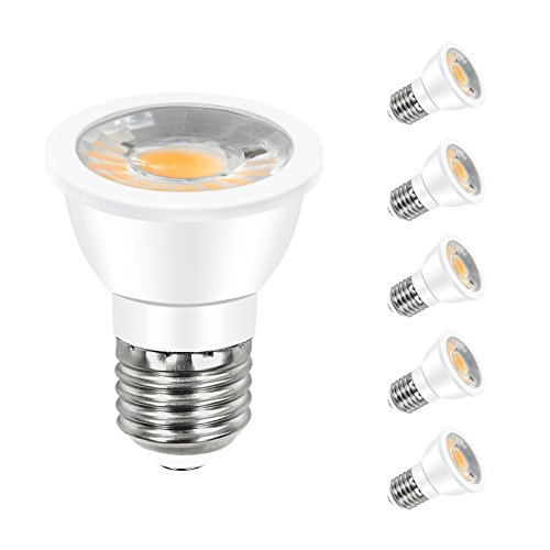 ANC PAR16 LED Bulb Dimmable Spotlight Bulb 7W Energy Star LED Bulbs(60W Halogen Bulbs Equivalent),550 Lumens 3000K Warm White 30° Beam Angle Spot Bulb 5 Pack (Par16 Halogen Narrow Spot)