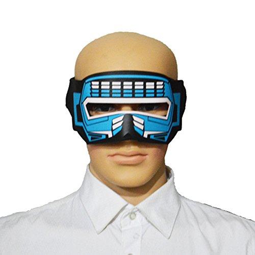 YIYIDANGSHI Party Mask, LED Voice Control Luminous Mask, Sound Activated Led Flashing ,Halloween Glowing Party Mask