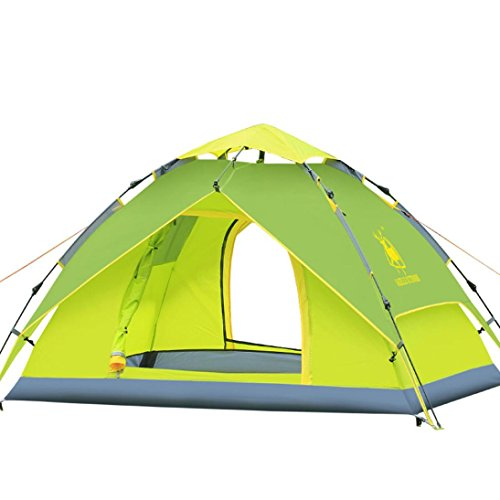 Price comparison product image Boofab Double Layer Rain-proof Automatic Folding 3-4 Person Outdoor Hiking Camping Tent (Green)