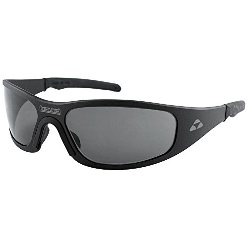 Liquid Eyewear,Gasket Model, Aluminum Sunglasses, Matte Black Frame, Smoke UV Cut Lens-Made in The ()