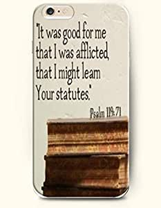 iPhone 6 Case,OOFIT iPhone 6 (4.7) Hard Case **NEW** Case with the Design of It was good for me that I was afflicted that I might learn your statue Psalm 119:71 - Case for Apple iPhone iPhone 6 (4.7) (2014) Verizon, AT&T Sprint, T-mobile